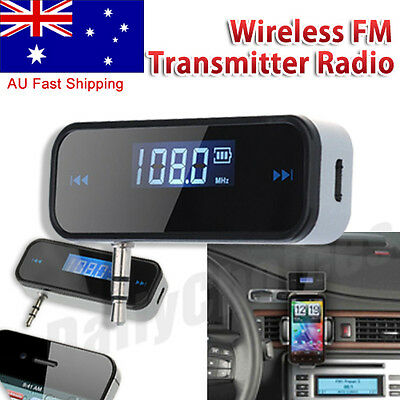 3.5mm Wireless Car FM Transmitter Radio & USB Charger For iPhone 6S 7 Samsung