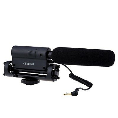 Digital Video Professional Stereo Shotgun Microphone Mic for Canon Nikon Camera