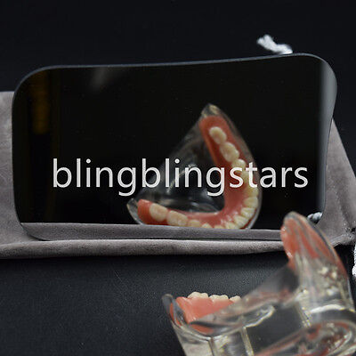Dental Intraoral Orthodontic Photographic Glass Mirror 2-sided Rhodium Occlusal