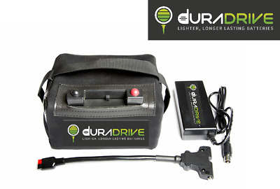 DuraDrive 9 - 18 Hole Lithium Golf Trolley Battery with Charger, Leads and Bag
