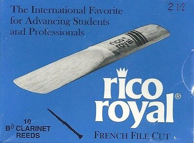 RICO ROYAL French File Cut - Boite de 10 anches Clarinette Force 2,5