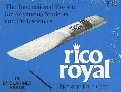 RICO ROYAL French File Cut - Boite de 10 anches Clarinette Force 3,5
