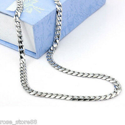 Wholesale New 9mm Men's Chain Stainless Steel Silver Tone Curb Link Necklace 20""
