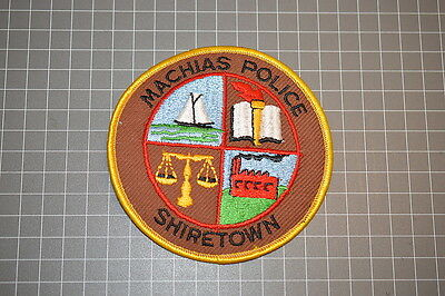Machias Maine Police Department Patch (T3)