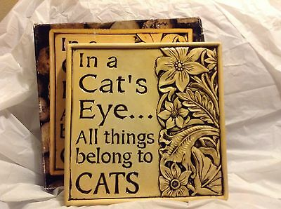 wall plaque-cat