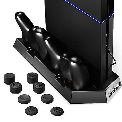 Cooling Fan Cooler for PS4 Playstation Amir 4 Controller with FREE Dual Charg...