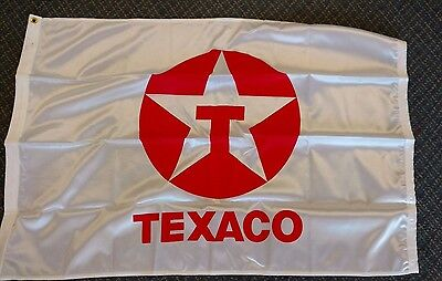 TEXACO OIL COMPANY  NYLON FLAG APPROX 2.5 x 3.5  free shipping!