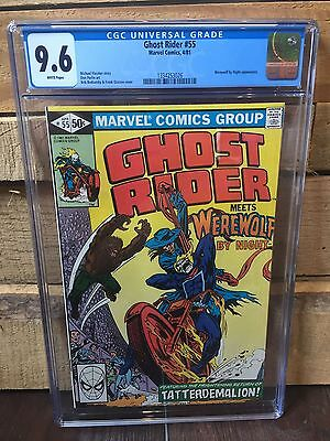 Ghost Rider #55 Cgc 9.6 Nm+ Werewolf By Night Cover/story White Pages