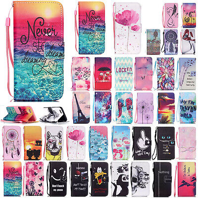 New Pattern Flip Leather Stand Card Wallet Case Cover For iPhone 5S 6 6S 7 Plus