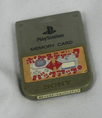 Official SONY Playstation 1 One PS1 PS Memory Card SCPH-1020 Japan Gray