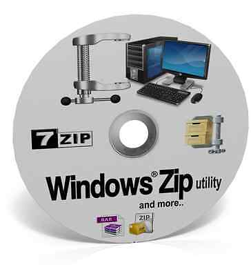 WINZIP / UNZIP / ZIP / RAR Windows File Archive Compression Software 2017 *DVD*