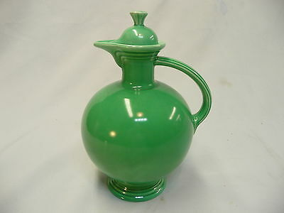 Vintage FIESTA Classic Green Carafe with Lid RARE!