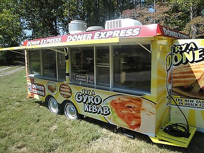 Buy or rent Spacious food trailer ( loaded ) with 4Lrg Service Windows.