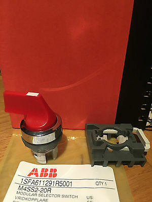 Abb Red Modular Selector Switch, 3 Positions, Brand New!