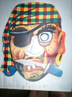 Vintage Halloween Mask, 1950S, English, Pirate