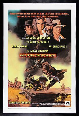 ONCE UPON A TIME IN THE WEST CineMasterpieces WESTERN ORIGINAL MOVIE POSTER 1969