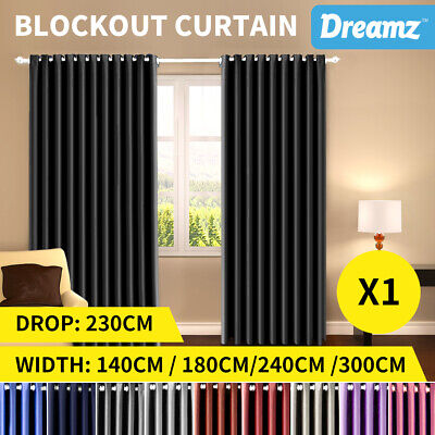 DreamZ Blockout Curtain Blackout Curtains Eyelet Darkening Pure Fabric Panel