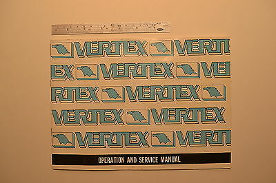 #J98 VERTEX HV. & RT. Type Rotary Tables Operation and Service Manual