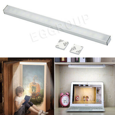 Back Magnetic 20 LED USB White Touch Dimmable Switch Lamp Strip Light Tube Bar