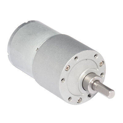DC Drice Gear Motor 12V Low Speed 30rpm Diameter 37mm with Gearbox for DIY Robot