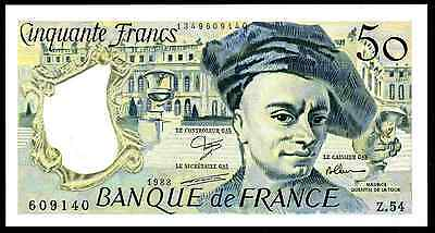 France. Fifty Francs, Alph; Z.54, 1988, Almost Uncirculated.