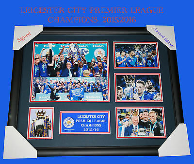 NEW!! LEICESTER CITY PREMIER LEAGUE CHAMPIONS FRAMED, LIMITED EDITION w/C.O.A