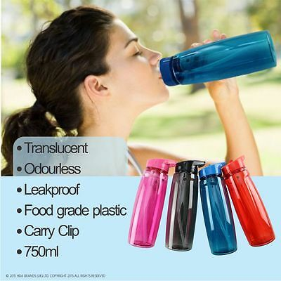 Translucent BPA Free Sports water Bottle For Gym Car Travel Holiday Camping