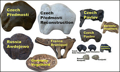 Prehistoric Art - Collection of 12 different mammoths – casts