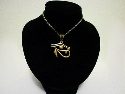 Bronze Eye Of Horus Necklace Protection Amulet Egyptian God Pagan Wicca Magic