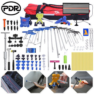 115× PDR Tools Push Rods Dent Lifter Puller Paintless Hail Repair Auto Body Set