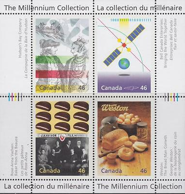 CANADA 2000 Millennium collection #1834 Pane 17 Enterprising Giants MNH