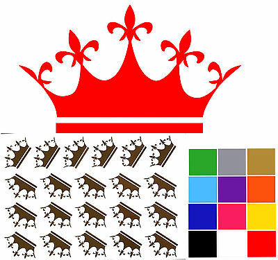 Small Crown Stickers x 21 Princess Queen Royal Crowns Wall Tile Decals