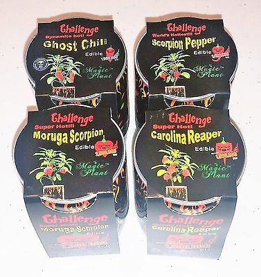 Carolina Reaper Scorpion Moruga Ghost Chili Pepper Growing Kit Cans 4-Pack 4-Pk
