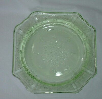Princess  Depression Glass Green Bread and Butter Hocking Glass Company