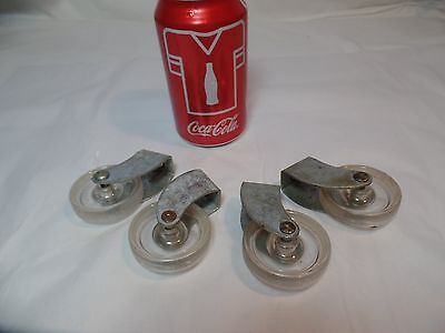 Clear Resin Casters  Set of 4