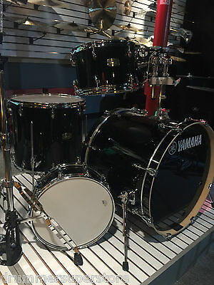 Yamaha Stage Custom Birch 5 Piece Shell Pack Raven Black Drum Set - NEW