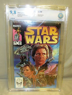 STAR WARS #81 (Boba Fett Return) White pgs CBCS 9.8 NM/MT Marvel Comics 1984 cgc