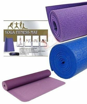 YOGA EXERCISE FITNESS WORKOUT NON SLIP MAT WITH CARRY CASE 173x61cm