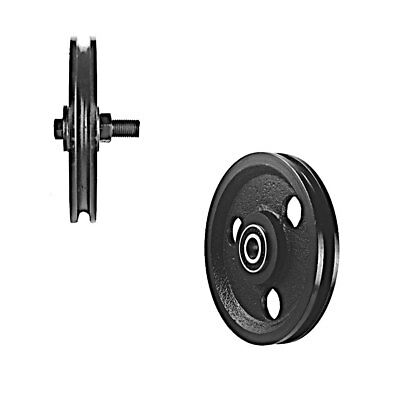 5 Inch Cast Iron Pulley w/ Two Pressed Steel Bearings (900 lb Load)