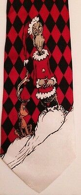 DR. SEUSS 1994 How The GRINCH Stole Christmas Max Holiday Silk Men's Neck Tie