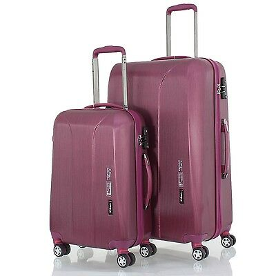 march15 - New Carat 2tlg. burgund/rot Trolleyset 55cm Bordcase +65cm, TSA-Koffer