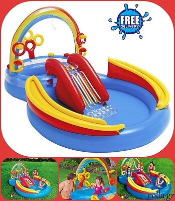 Inflatable Water Slide Play Centre Garden Paddling Pool Outdoor Toys Kids Games