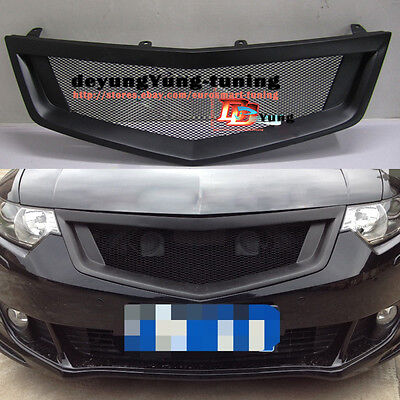 Metal Black Front Grille Grill Sport Honda Accord 8 CU2 Acura TSX 2008 2009 2010