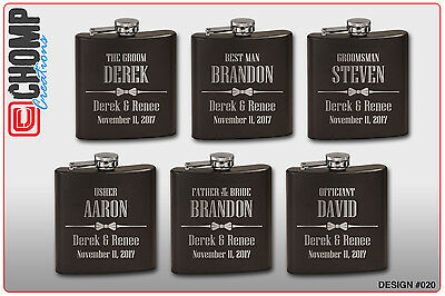 1 Personalized Engraved Flask, Groomsman Gifts, Wedding Bridesmaid Party