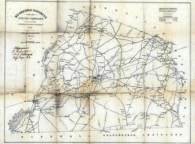 1825 Map of Ed Gefield District (County) South Carolina