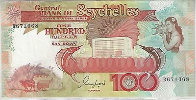 Seychelles 100 Rupees Banknote, 1989, Very Fine Condition