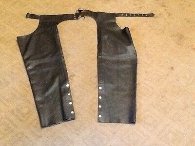 River Road Moto Leather Chaps Black XXL/XX-Large