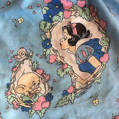 Vintage Disney Snow White & the Seven Dwarfs Dopey Twin Bed Skirt/Dust Ruffle
