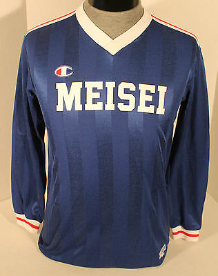 Vintage Meisei Champion Long Sleeve Soccer Jersey Youth Size L Japan Football #3