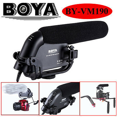 BOYA Stereo Video Condenser Shotgun Microphone for Nikon Canon Camera Camcorders
